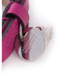 Alexander McQueen | Purple Double Wrap Skull Bracelet | Lyst