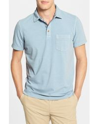 Tailor Vintage - Blue Regular Fit Pique Stretch Cotton Polo for Men - Lyst