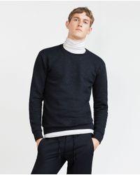 Zara | Blue Sweatshirt for Men | Lyst