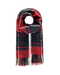 Forever 21 | Black Loop Knit Plaid Scarf | Lyst