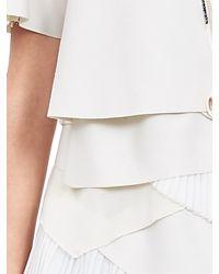 Banana Republic | White Br Monogram Flannel Pleat Layer Dress | Lyst