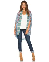 Camilla - Blue Open-Front Cardigan - Lyst