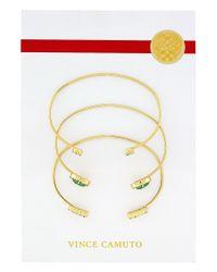 Vince Camuto | Green Sparkle Bracelet Set | Lyst