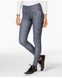 Adidas | Gray Heathered Leggings | Lyst