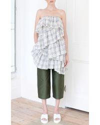 Isa Arfen - Green Relaxed Crop Pants - Lyst