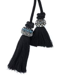 Lanvin | Blue Tassel Necklace | Lyst