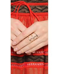 Phyllis + Rosie | Metallic Rib Ring - Gold | Lyst