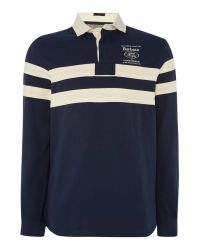 Barbour | Blue Land Rover Rugby Long Sleeve Wakefield Ruby for Men | Lyst