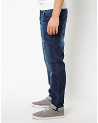 ASOS | Blue Tapered Jeans In Dark Wash for Men | Lyst