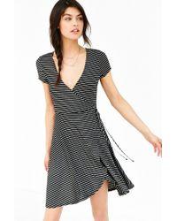 Kimchi Blue - Black Ballet Surplice Dress - Lyst