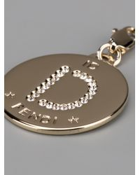 Fendi | Metallic D Identity Charm | Lyst