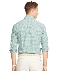 Polo Ralph Lauren | Green Checked Poplin Shirt for Men | Lyst