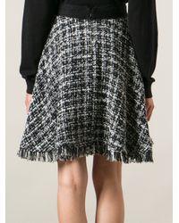 MSGM - Gray Bouclé Skirt - Lyst