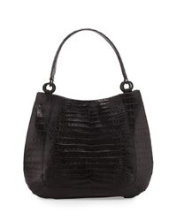 Nancy Gonzalez - Black Medium Crocodile Hobo Bag - Lyst
