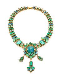 Aerin Erickson Beamon - Green Jewel Necklace - Lyst