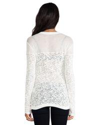 Sjobeck - White Mesh Yoke Sweater - Lyst