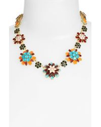 Kate Spade | Multicolor 'bold Blooms' Graduated Collar Necklace - Multi/ Gold | Lyst