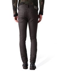 DIESEL - Brown Washed Slim Jeans for Men - Lyst