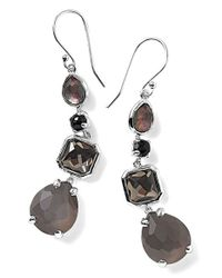Ippolita - Black 'rock Candy' Linear Drop Earrings - Lyst