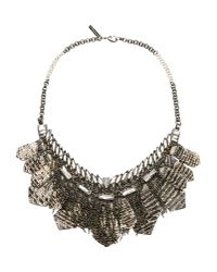 Deepa Gurnani | Gray Nimah Necklace | Lyst