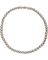Munnu - Metallic White Diamond Single Line Necklace - Lyst