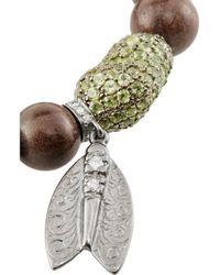Loree Rodkin - Brown Boxwood, Sapphire, Diamond And 18-Karat Rhodium White Gold Bracelet - Lyst