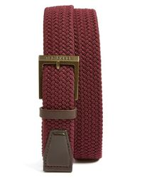 Ted Baker - Red Elastic Belt for Men - Lyst