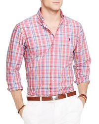 Ralph Lauren - Red Polo Plaid Poplin Button Down Shirt - Regular Fit for Men - Lyst