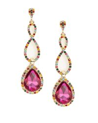 R.j. Graziano | Pink Fuchsia Crystal Drop Earrings | Lyst