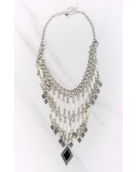 Vanessa Mooney | Metallic Midnight Silver Statement Necklace | Lyst