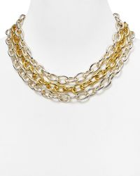 Ralph Lauren | Metallic Lauren 3-row Oval Link Necklace, 17"