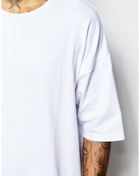ASOS - White Super Oversized T-shirt In Heavyweight Jersey for Men - Lyst