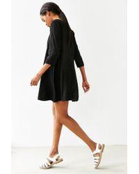 Kimchi Blue - Black 3/4 Sleeve Voluminous Swingy Dress - Lyst