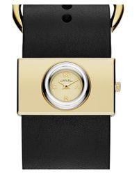 Marc Jacobs | Black 'viv' Leather Strap Watch | Lyst