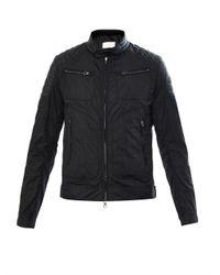 Moncler - Black Salomon Leatherpanel Jacket for Men - Lyst