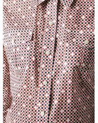 Tory Burch - Red 'Brigitte' Blouse - Lyst