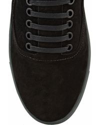 Alexander Wang - Black Jess Suede Low-Top Sneakers - Lyst