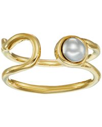 Marc By Marc Jacobs - Metallic Lost And Found Safety Pin Ring - Lyst