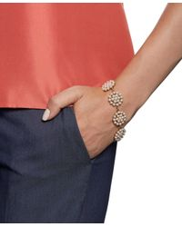 Brooks Brothers - Yellow Tonal Pearl Disc Bracelet - Lyst