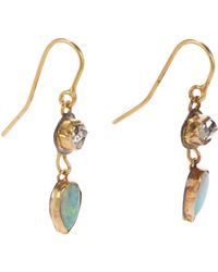 Judy Geib - Green Women's Herkimer Diamond & Opal Double-drop Earrings - Lyst