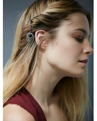 Free People - Black Ouroboros Designs For Womens Lucky Charm Hair Pick - Lyst