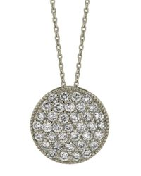 Morris & David | Diamond Pendant In 14 Kt. White Gold | Lyst
