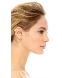 Rachel Zoe - Metallic Double Ear Cuff Earrings - Gold - Lyst
