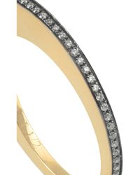 Noor Fares | Black Crescent Moon 18-Karat Gold Diamond Ring | Lyst