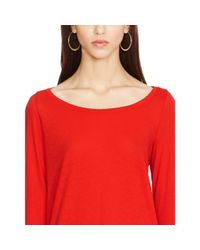 Polo Ralph Lauren - Red Cotton Jersey Long-sleeved Tee - Lyst