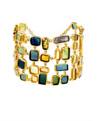 Pippa Small - Green Tourmaline and Yellow-gold Bracelet - Lyst