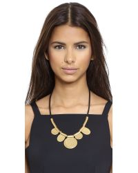 Madewell - Metallic Hammered Circle Cord Necklace - Vintage Gold - Lyst