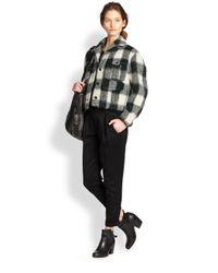 Rag & Bone - Black Em Box Pleated Wool Pants - Lyst