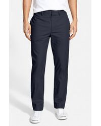 Lacoste - Blue Regular Fit Twill Chinos for Men - Lyst