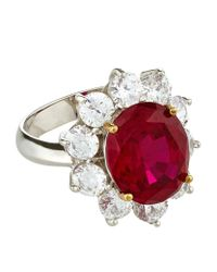 Carat* - Red Rosemond Ruby Cluster Ring - Lyst